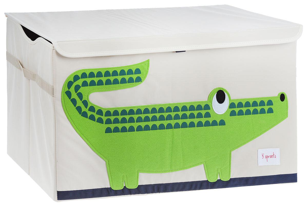 3 Sprouts Сундук для хранения игрушек Крокодил08083Универсальный сундук для хранения игрушек 3 Sprouts Крокодил отлично подойдет для организации пространства любой комнаты. Стороны сундука укреплены с помощью картона, он всегда готов к использованию, а крышка скроет из вида игрушки. Сундук достаточно большой, чтобы вместить любой предмет, а его вид добавит озорства любой комнате. Уход: снаружи - только выведение пятен.