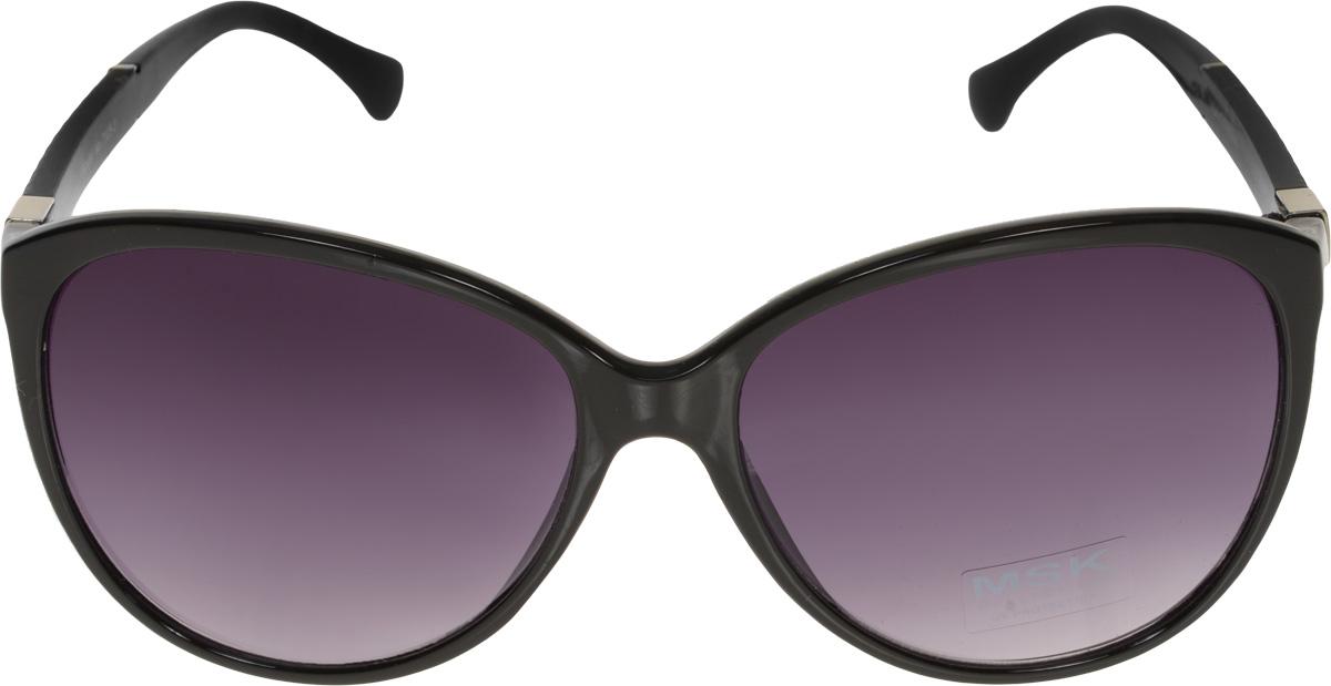Очки солнцезащитные Mitya Veselkov, цвет: черный. MSK-7105-3MSK-7105-3Модные и стильные солнцезащитные очки от Mitya Veselkov выполнены из высококачественного пластика, который не искажает изображение, не подвержен нагреванию и вредному воздействию солнечных лучей. Пластиковая оправа очков легкая, прилегающей формы и поэтому не создает никакого дискомфорта. Дужки оформлены оригинальным тиснением и символикой бренда. Пластиковые солнцезащитные очки - это идеальный способ спрятать глаза от опасного и вредного воздействия ультрафиолета, окружающей среды и других факторов, и при этом изысканная возможность дополнить образ, скрыть изъяны и, наоборот, раскрыть достоинства, а также сохранить молодость и красоту
