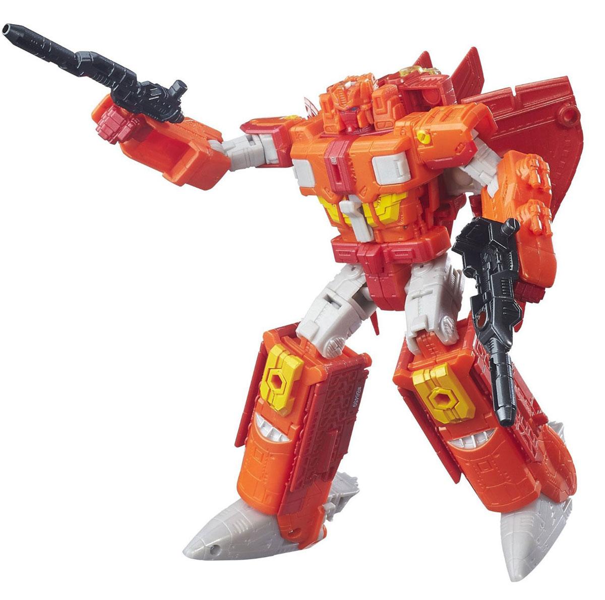 Transformers Трансформер Autobot Infinitus & Sentinel PrimeB7769EU4_ B6459Трансформер Transformers Autobot Infinitus & Sentinel Prime обязательно понравится всем маленьким поклонникам знаменитых Трансформеров! Фигурка выполнена из прочного пластика. В несколько простых шагов (11 шагов) малыш сможет трансформировать фигурку робота в космическую машину, а далее в режим поезда и обратно. Фигурка отличается высокой степенью детализации. Ребенок с удовольствием будет играть с трансформером, придумывая различные истории. Порадуйте его таким замечательным подарком! В комплект также входят оружие трансформера и карта персонажа с техническими характеристиками.