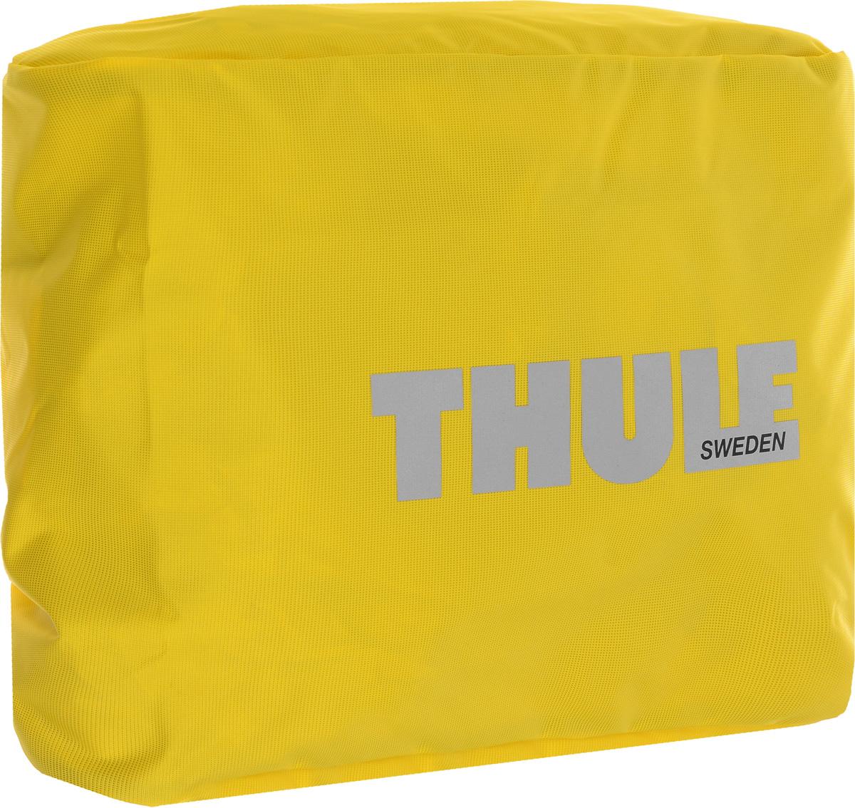 Чехол-дождевик для сумки Thule Pannier, цвет: желтый1000406Чехол-дождевик для сумки Thule Pannier предназначен для использования с велосипедными сумками Thule Packn Pedal Large Pannier. Чехол выполнен из прочного водонепроницаемого материала. Благодаря эластичной резинке легко и просто одевается на сумку. С таким чехлом ваша велосипедная сумка не промокнет, и все содержимое останется сухим.