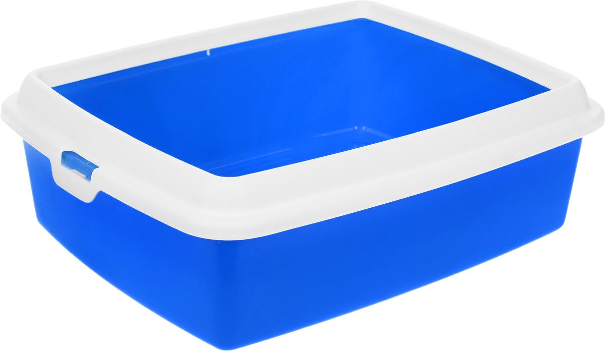 Туалет для кошек MPS Hydra Maxi, с рамкой, цвет: синий, 50 х 40 х 16,5 смS08010200_синийТуалет для кошек MPS Hydra Mini выполнен из прочного пластика. Высокие бортики и рама, прикрепленная к лотку, предотвращают разбрасывание наполнителя. Благодаря качественным материалам лоток легко убирается, быстро сохнет и не впитывает посторонние запахи.