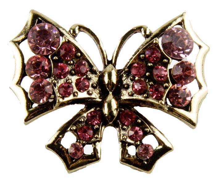 Брошь Розовая бабочка. Бижутерный сплав, австрийские кристаллы. Конец XX векаk256f366Брошь Розовая бабочка. Бижутерный сплав, австрийские кристаллы Западная Европа, конец ХХ века. Сохранность хорошая. Размер: 3 х 4 см. Мимо такой броши невозможно пройти , не обратив на нее и ее владелицу внимание. Яркая, сочная, насыщенная, как весенний день. Брошь украшена крупными австрийскими кристаллами нежно-розового цвета , которые переливаются под лучами солнца. Красивое украшение для прекрасных леди.