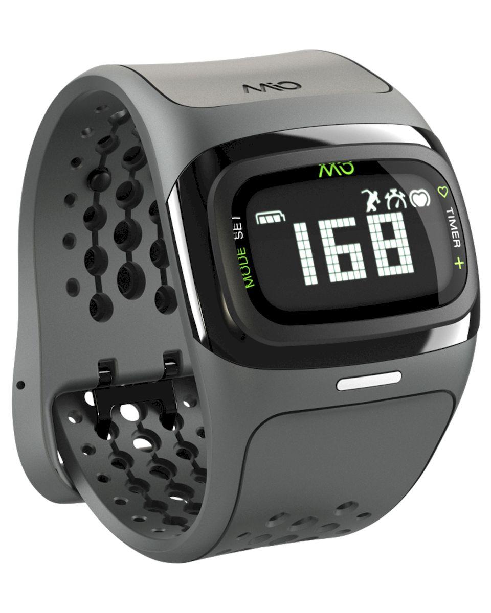Спортивные часы Mio ALPHA 2 Black Large, цвет: серый, черный58P-BLKMio ALPHA 2 - это спортивные часы с высокоточным оптическим пульсометром и одновременно фитнес-трекер, которые могут работь как самостоятельно, так и в паре с популярными фитнес-приложениями на смартфонах на базе iOS и Android - Датчик пульса (MIO Optical Heart Rate Technology) - Подключается к смартфону по Bluetooth Smart (Bluetooth 4.0) - Отображение пульса на дисплее в режиме реального времени - Часы, хронограф и различные таймеры для режима тренировки - Подсчет ежедневной активности (шаги, калории, дистанция) - Отображение данных тренировки на дисплее (темп, скорость, дистанция) - Подсчет затраченных калорий исходя из нагрузки на сердце (пульса) - Звуковые уведомления при переходе между зонами пульса - RGB-светодиод, индицирующей одну из пяти пульсовых зон - Монохромный ЖК-дисплей с подсветкой / водонепроницаемость - 30м - Аккумулятор: 3 месяца в базовом режиме / 20-24 часа в режиме тренировки - Память: 14 дней в базовом режиме...