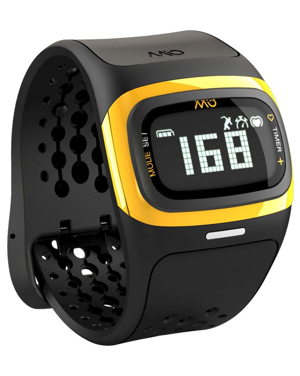 Спортивные часы Mio ALPHA 2 Yellow Large, цвет: черный, желтый58P-YLWMio ALPHA 2 - это спортивные часы с высокоточным оптическим пульсометром и одновременно фитнес-трекер, которые могут работь как самостоятельно, так и в паре с популярными фитнес-приложениями на смартфонах на базе iOS и Android - Датчик пульса (MIO Optical Heart Rate Technology) - Подключается к смартфону по Bluetooth Smart (Bluetooth 4.0) - Отображение пульса на дисплее в режиме реального времени - Часы, хронограф и различные таймеры для режима тренировки - Подсчет ежедневной активности (шаги, калории, дистанция) - Отображение данных тренировки на дисплее (темп, скорость, дистанция) - Подсчет затраченных калорий исходя из нагрузки на сердце (пульса) - Звуковые уведомления при переходе между зонами пульса - RGB-светодиод, индицирующей одну из пяти пульсовых зон - Монохромный ЖК-дисплей с подсветкой / водонепроницаемость - 30м - Аккумулятор: 3 месяца в базовом режиме / 20-24 часа в режиме тренировки - Память: 14 дней в базовом режиме...