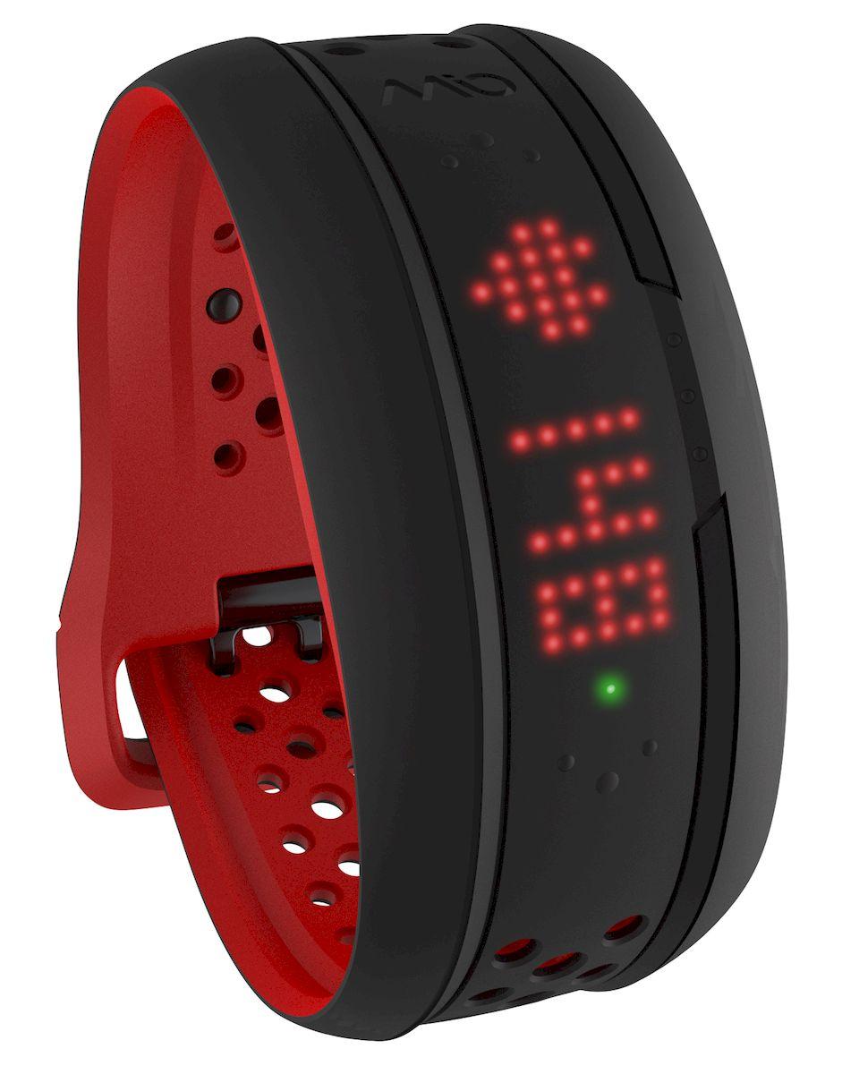 Фитнес-трекер Mio FUSE Crimson Large, цвет: черный, красный59P-LRG-INTMio FUSE - это продвинутый фитнес-трекер, снабженный высокоточным оптическим пульсометром, который умеет дифиренцированно отслеживать повседневную активность и интенсивные тренировки. Одна из уникальных особенностей - отслеживание качества сна по особому алгоритму, учитывающему динамические изменения пульса. - Датчик пульса (MIO Optical Heart Rate Technology) - Подключается к смартфонам по Bluetooth Smart (Bluetooth 4.0) - Возможность подключения по ANT+ к совместимому спортивному оборудованию - Отображение пульса на дисплее в режиме реального времени - Часы и хронограф для записи тренировки без подключения к смартфону - Отслеживание ежедневной активности и качества сна на базе пульса - Подсчет затраченных калорий исходя из нагрузки на сердце (пульса) - Отображение данных тренировки на дисплее (темп, скорость, дистанция) - RGB-светодиод, индицирующей одну из пяти пульсовых зон - Вибро-уведомления о переходах между зонами ЧСС -...