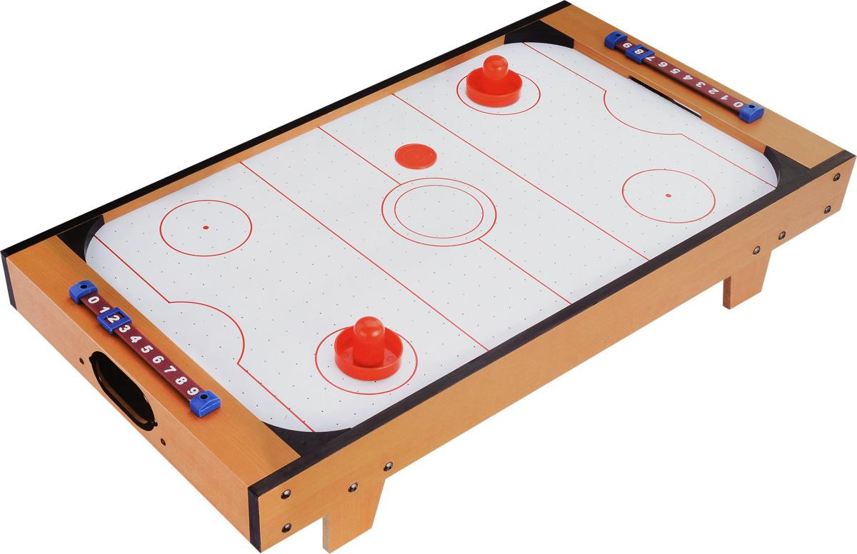 Huang Guan Аэрохоккей HG288DHG288DНастольная игра Huang Guan Аэрохоккей состоит из игрового поля с воротами, двух счетчиков очков, двух шайб и двух бит. Аэрохоккей - увлекательная и активная игра. Участие в этой игре принимают два игрока. Цель игры - забить шайбу в ворота противника. Игровое поле представляет собой гладкую игровую поверхность, окруженную невысоким бортиком, предотвращающим падение шайбы и бит. Через небольшие дырочки на игровой поверхности создается циркуляция воздуха от работающего вентилятора, уменьшая трение и увеличивая тем самым скорость движения шайбы. Такой игровой набор станет прекрасным подарком и позволит приятно провести время в хорошей компании. Для работы игрушки необходимы 6 батареек типа АА напряжением 1,5V (не входят в комплект).