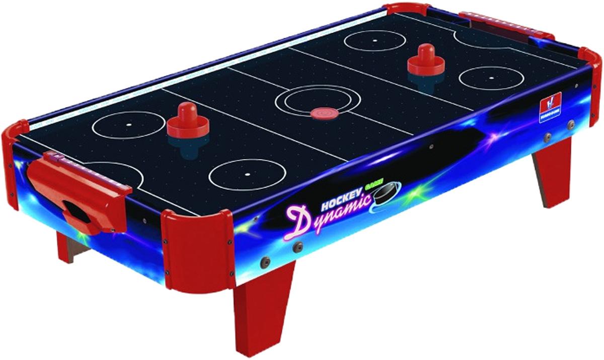 Huang Guan Аэрохоккей 278N278NНастольная игра Huang Guan Аэрохоккей состоит из игрового поля, двух ворот со счетчиком очков, двух шайб и двух бит. Аэрохоккей - увлекательная и активная игра. Участие в этой игре принимают два игрока. Цель игры - забить шайбу в ворота противника. Игровое поле представляет собой гладкую игровую поверхность, окруженную невысоким бортиком, предотвращающим падение шайбы и бит. Через небольшие дырочки на игровой поверхности создается циркуляция воздуха от работающего вентилятора, уменьшая трение и увеличивая тем самым скорость движения шайбы. Такой игровой набор станет прекрасным подарком и позволит приятно провести время в хорошей компании. Игрушка работает от домашней электросети через сетевой адаптер (в комплекте).