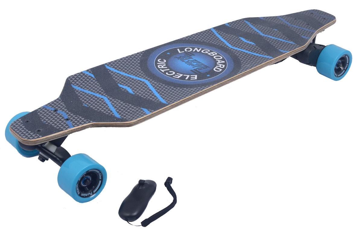 Электроскейт Backfire с рекуперативной системой торможения и bluetooth джойстиком, цвет: синийBF0002Электроскейты Backfire - это новейшее поколение электроскейтов - катайся быстрее и круче! Впечатления от движения на электрическом скейтборде Backfire как от серфинга, сноубординга, вейкбординга. На работу, учебу, тусовки — куда и когда угодно! Уникальный мотор 1200 Ватт - мощнейший в своем классе! Превосходит по мощи другие популярные модели электроскейтов до 4х раз. Обеспечивает плавность и динамику движения при интенсивных маневрах; Даже при подъеме в горку до 30 градусов. Спроектирован в соответствии с требованиями PRO-райдеров. Рекуперативная система торможения - дополнительная зарядка аккумулятора во время движения. Интуитивное управление с Bluetooth-джойстика. 2 режима скорости: Ручной до 32км/ч и круиз-контроль -специально для дальних дистанций. Регулировка скорости: Удобное ускорение и торможение трек-колесиком. 100% концентрация на езде. Не отвлекаясь на технику. Уникальная запатентованная подвеска ZeroGravity из высокопрочной стали ABEC-11.