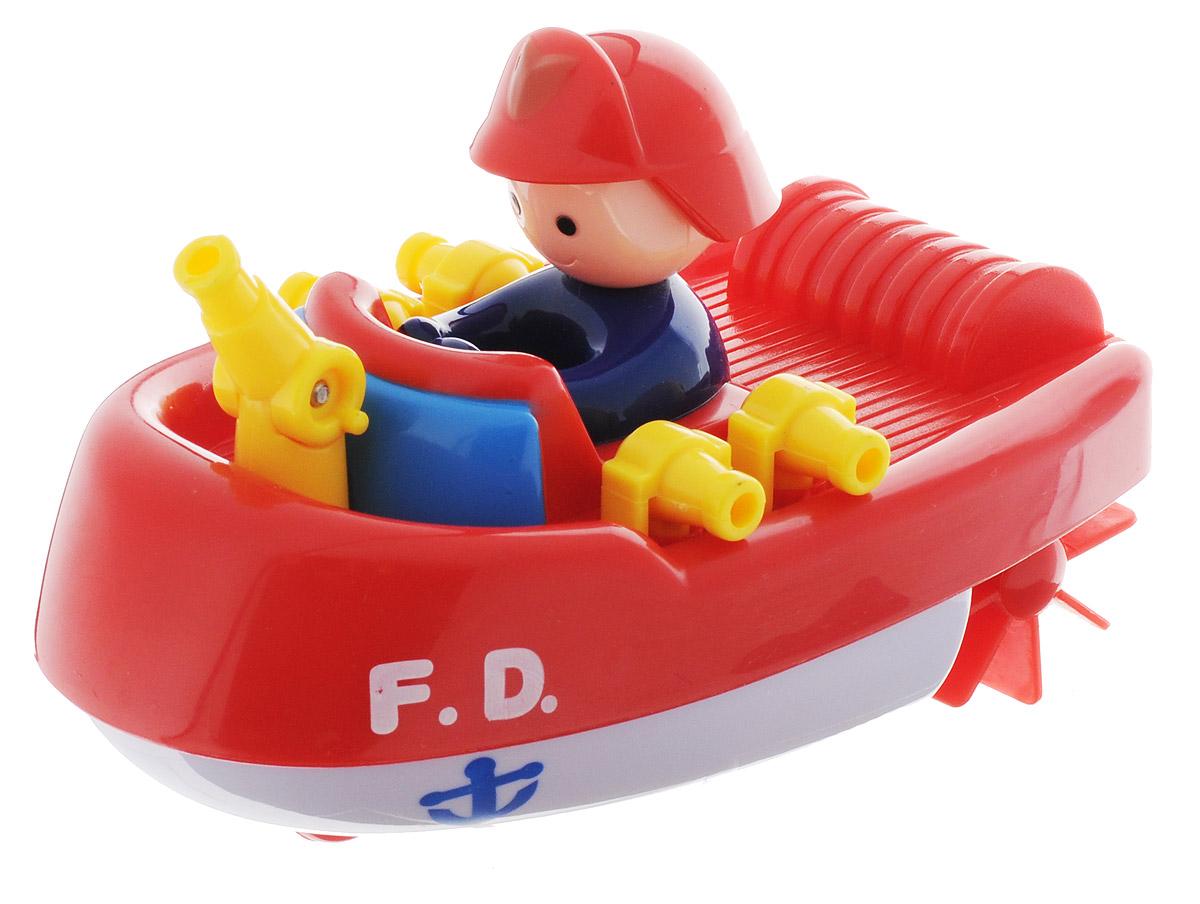 Navystar Игрушка для ванной Пожарный катер цвет красный белый65019-1-WИгрушка для ванной Navystar Пожарный катер обрадует вашего малыша во время купания и сделает этот порой нелегкий процесс приятным и веселым. Игрушка выполнена в виде яркого пожарного катера с брандспойтами, пожарным и двумя гребными винтами. Если провернуть гребные винты назад, а затем отпустить, катер поплывет вперед. Чем сильнее были провернуты винты, тем быстрее поплывет катер. Также на днище катера имеется колесико, с помощью которого можно катать игрушку по ровной поверхности. Игрушка для ванной Navystar Пожарный катер не только развеселит вашего малыша, но и поможет развить мелкую моторику.