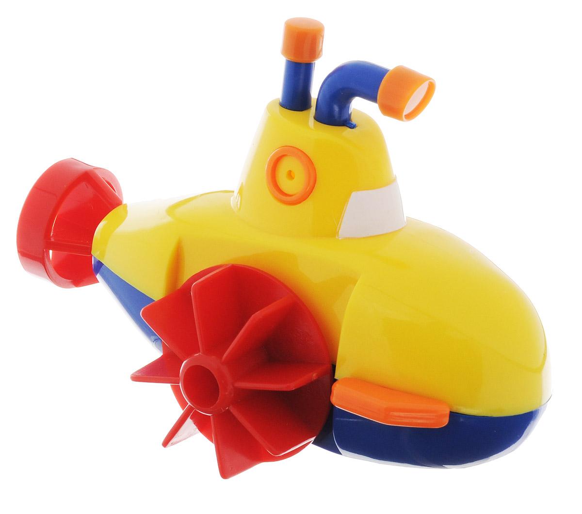Navystar Игрушка для ванной Субмарина цвет желтый63906-1-YИгрушка для ванной Субмарина порадует вашего малыша во время купания и сделает этот порой нелегкий процесс приятным и веселым. Субмарина выполнена из яркого безопасного пластика. Если покрутить колесики, расположенные по бокам игрушки, то субмарина быстро поплывет по поверхности воды. Данная игрушка не только развеселит вашего малыша, но и поможет развить мелкую моторику.