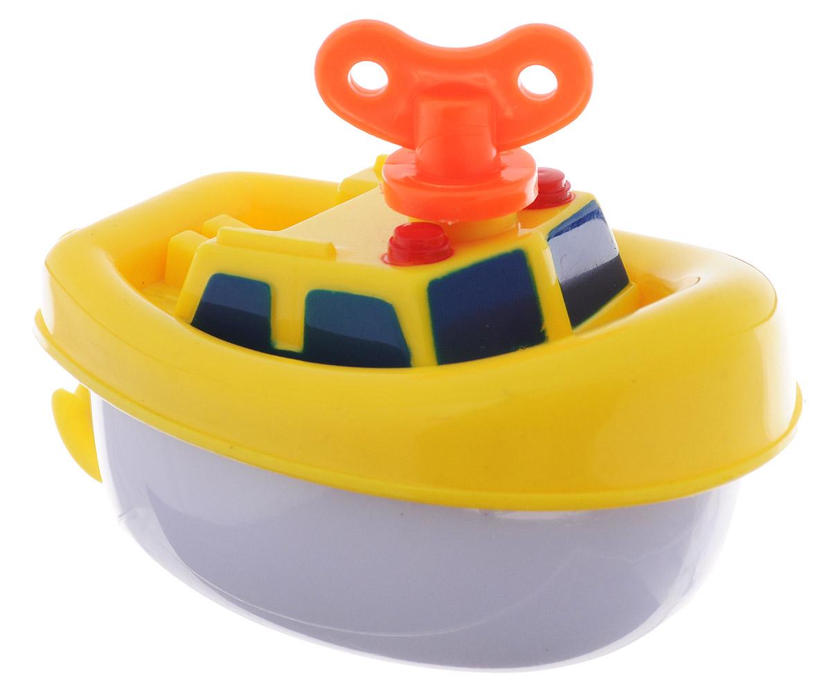 Navystar Игрушка для ванной Пароходик цвет желтый63901-1-YЗаводная игрушка Пароходик порадует вашего малыша во время купания и сделает этот порой нелегкий процесс приятным и веселым. Пароходик выполнен из яркого безопасного пластика. Механическая игрушка быстро плавает по поверхности воды. Даже ребенку легко завести кораблик с помощью специального ключика, расположенного на крыше игрушки. Данная игрушка не только развеселит вашего малыша, но и поможет развить мелкую моторику.