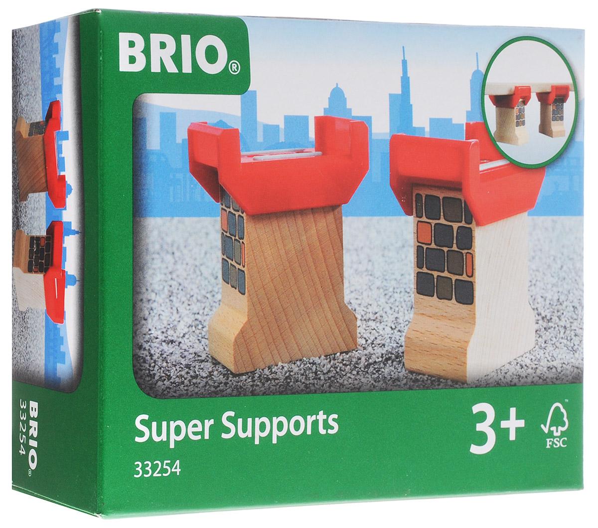 Brio Опоры для мостов33254Дополнительные элементы для развития железной дороги Опоры для мостов предназначены для машинок и паровозиков Brio. Набор включает в себя два элемента для построения собственного железнодорожного полотна с мостом. Опоры для моста обеспечат устойчивость конструкции. Железные дороги позволяют ребенку не только получать удовольствие от игры, но и развивать пространственное воображение, мелкую моторику и координацию движений. Набор совместим со всеми железными дорогами и паровозиками Brio. Ваш малыш часами будет играть с набором, придумывая разные истории. Машинки и паровозики в комплект не входят.