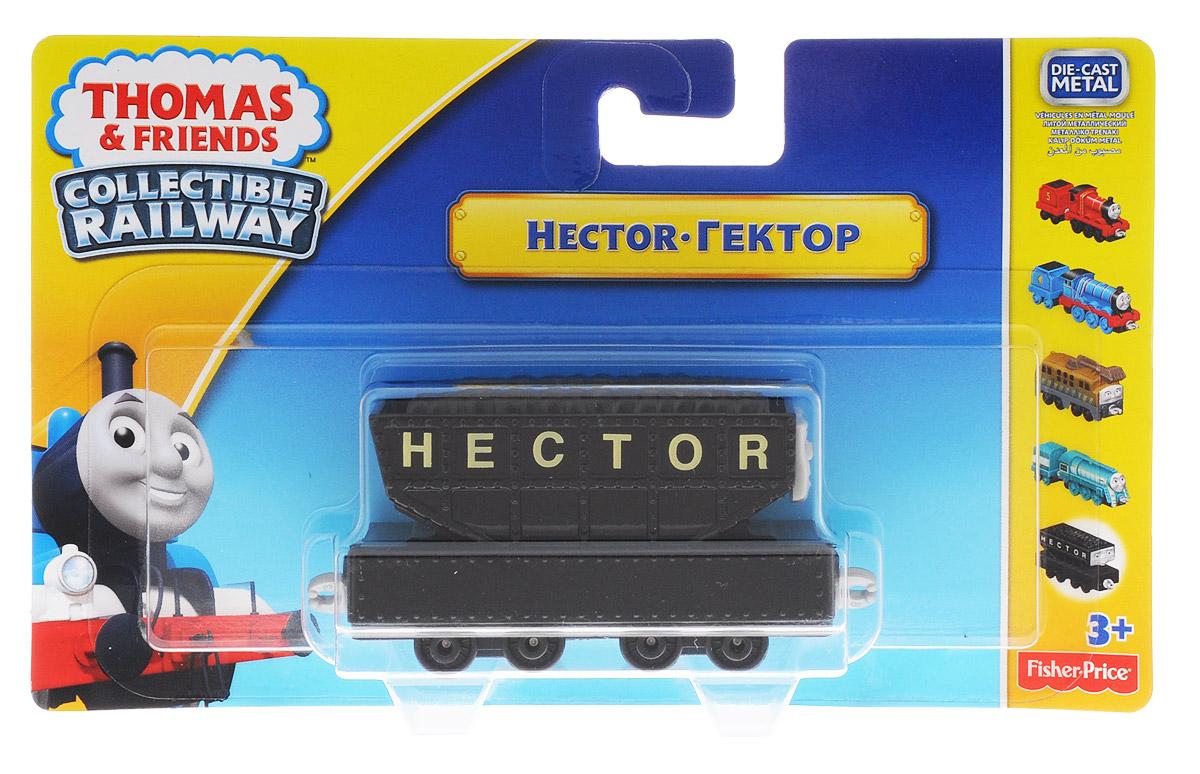 Thomas & Friends Базовый паровозик ГекторBHX25_DGB66Игрушка Thomas&Friends Базовый паровозик Гектор привлечет внимание вашего малыша и не позволит ему скучать. Паровозик выполнен из металла и пластика в виде персонажа популярного мультсериала Томас и его друзья (Thomas & Friends). Гектор - большой грузовой вагон, который ведет себя агрессивно, когда чего-то боится. При первом своем появлении он доставил большие неприятности Биллу, Бэну, Томасу и Рози из-за того, что боялся быть заполненным углем. В знакомой обстановке мил, дружелюбен и готов помогать. Соберите все паровозики Thomas&Friends для увлекательной игры! Порадуйте своего непоседу такой замечательной игрушкой!
