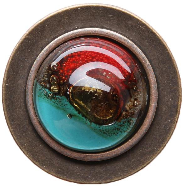 Кольцо коктейльное Глория. Стекло, бижутерный сплав старое золото. Cristalida, Аргентина кольцо коктейльное