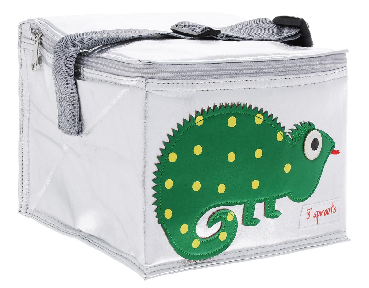 3 Sprouts Сумка для обеда Зеленая игуана00001Сумка для обеда 3 Sprouts Зеленая игуана идеальна для контейнеров, так что вы можете отправить детей в школу вместе с сытными закусками и обедами. В этой сумке еда не нагреется. Мыть ее чрезвычайно легко. Специальная бирка на внутренней поверхности сумки предназначена для указания имени ребенка. Прочная застежка-молния, хорошая вместительность, стильный серебристый цвет и красивая аппликация делают использование этой сумки удобным и приятным для ребенка. Регулируемый ремешок с защелкой позволит прикрепить сумку к рюкзаку или другой сумке. Сумка изготовлена без применения фталатов, PVC и свинца.