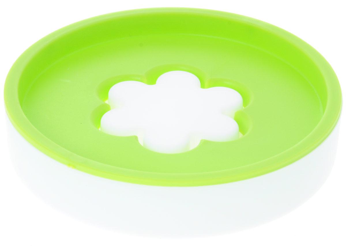 Мыльница Top Star Цветок, цвет: белый, салатовый, диаметр 10,5 см175610_белый, салатовыйОригинальная мыльница Top Star, изготовленная из пластика, устойчива к воздействию влаги. Изделие удобно в использовании. Мыло не тает и не засыхает, его остатки легко смываются водой. Такая мыльница прекрасно подойдет для ванной комнаты или кухни. Мыльница Top Star создаст особую атмосферу уюта и максимального комфорта в ванной.