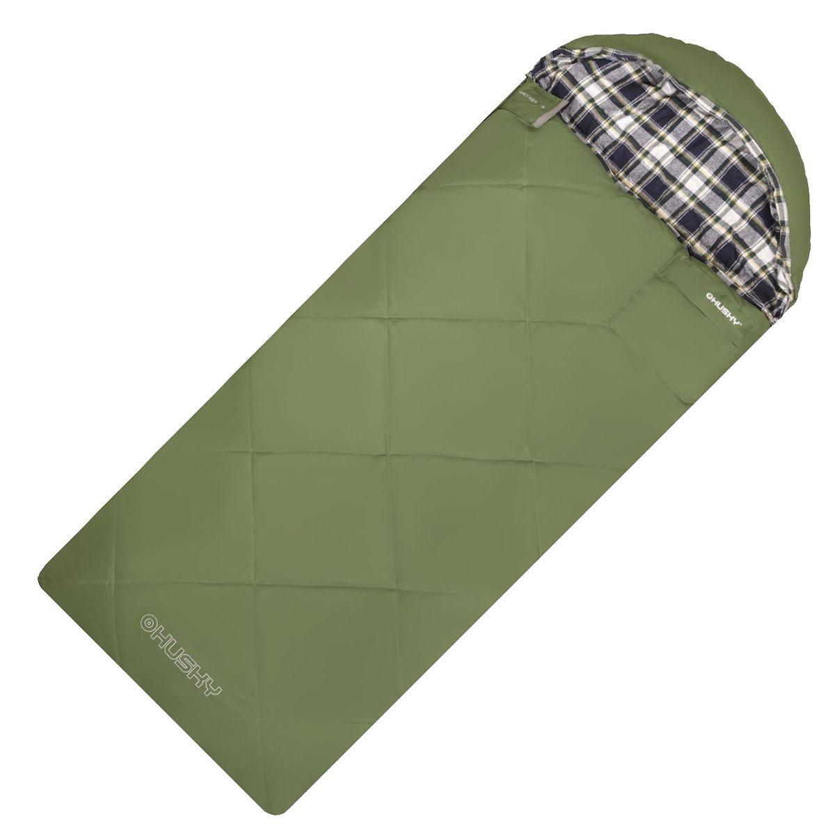 """Спальник - одеяло Husky """"GALY KIDS -5С"""", правая молния, цвет: зеленый УТ-000069842"""