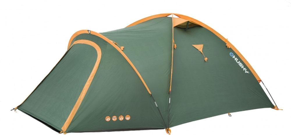 Палатка туристическая Husky BIZON 4 CLASSIC, цвет: зеленыйУТ-000069921Палатка BIZON 4 CLASSIC (НОВИНКА) Бюджетный вариант проверенной палатки BIZON 4 с наружным расположением дуг. По сравнению с основной моделью пол выполнен из армированного полиэтилена. Самая практичная палатка линии outdoor коллекции HUSKY. Традиционная конструкция с тремя стойками дает достаточно места в тамбуре для вещей или готовки еды. Возможна установка только тента, без внутренней палатки. Подходит для легкого пешего туризма и кемпинга. Вес: 4,4 кг/ 4,9 кг Кол-во чел.: 4 Кол-во входов: 2 Высота: 130 см Длина: 420 см Ширина: 280 см Размер спальни: 260х220см Размеры в сложенном виде: 45х18 см - Ленточные швы - Застежка-молния с двойным ходом - Фибергласовые дуги (durawrap), диаметр 8,5 мм - Комфортная вентиляционная система - Наружный тент - из полиэстера 185Т, водостойкость 3000 мм.вд.ст - Внутренний тент - дышащий нейлон 190Т, противомоскитные сетки - Пол - армированный полиэтилен, водостокость 5000...