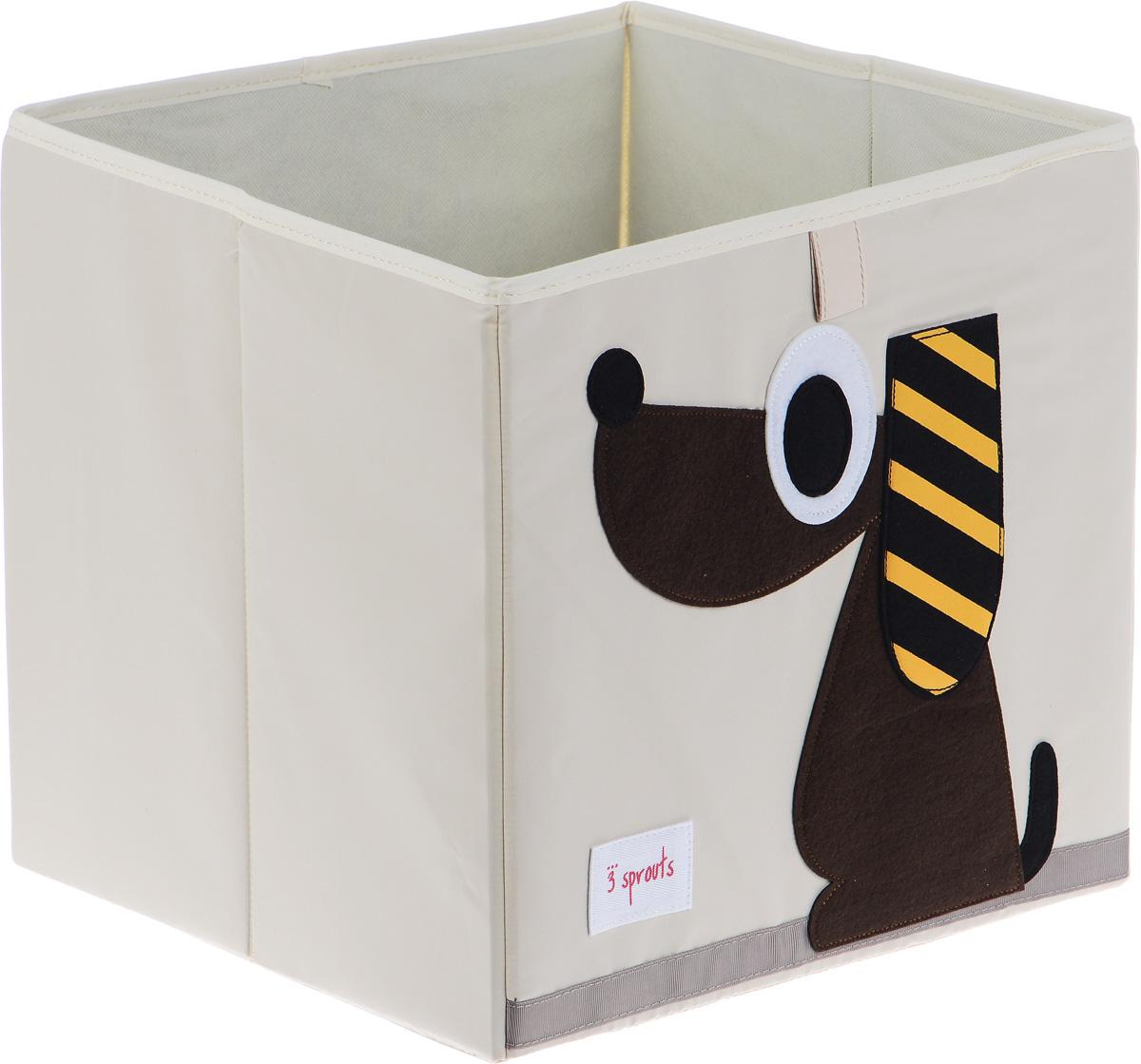 3 Sprouts Коробка для хранения Собачка67621Коробка для хранения 3 Sprouts Собачка - это отличный вариант организации пространства любой комнаты. Стороны коробки усилены с помощью картона, поэтому она всегда стоит ровно. Помещается практически во все стеллажи с квадратными отсеками и добавляет озорства любой комнате. Стоит ли коробка отдельно или на полке стеллажа, она обеспечит прекрасную организацию в вашем доме. Не содержит фталаты. Уход: снаружи - только выведение пятен.