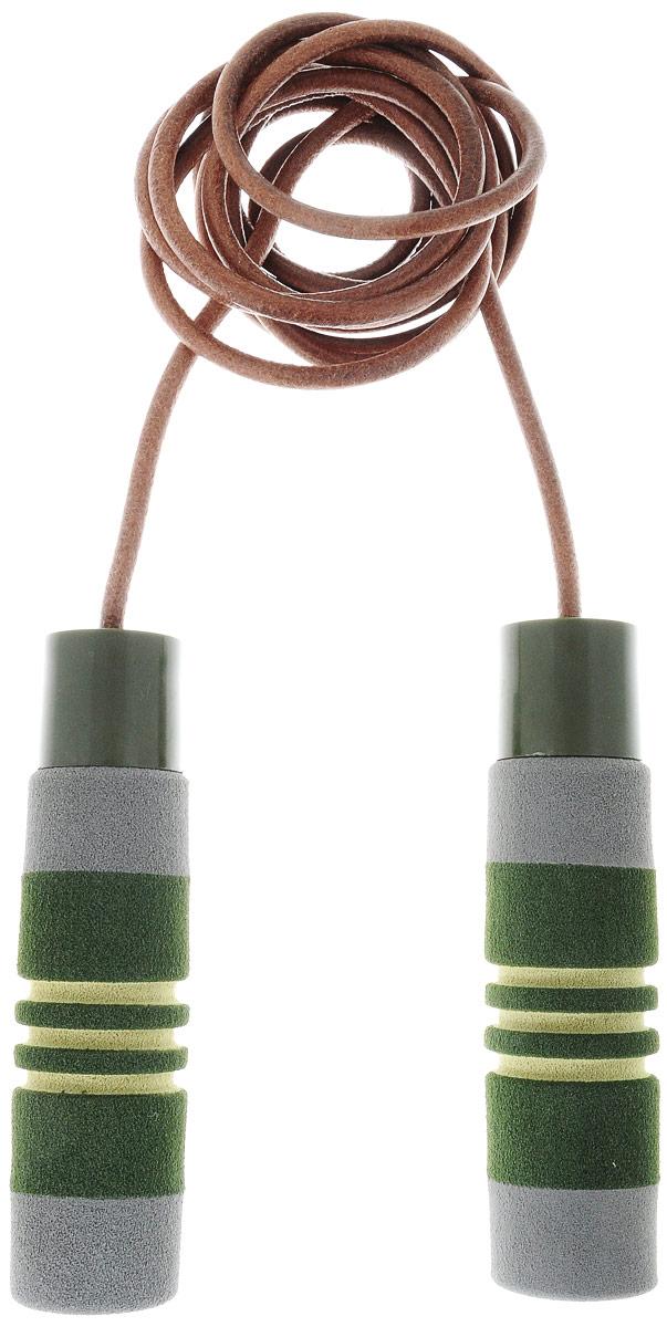 Скакалка Ecowellness, с утяжелителями, цвет: зеленый, коричневый, 275 смQK-555FN-BСкакалка Ecowellness выполнена из коровьей кожи, высококачественного неопрена и ПВХ. Это прекрасный способ заниматься фитнесом и получать при этом удовольствие. Скакалка снабжена сменными утяжелителями. Занятия на скакалке улучшает выносливость, тонизирует мышцы и тренирует сердечно-сосудистую систему. Вес утяжелителей: 190 г. Длина скакалки: 275 cм. Толщина шнура: 6 мм.