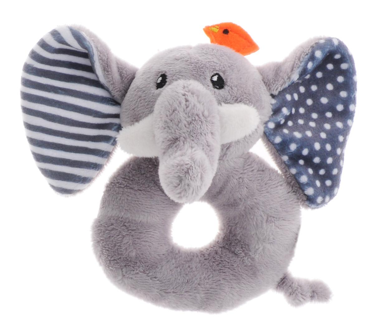 Zoocchini Погремушка Слон00527Мягкая погремушка Zoocchini Слон привлечет внимание вашего малыша и не позволит ему скучать. Игрушка выполнена в виде слоника. В игрушку встроена сфера, гремящая при тряске. Игра с погремушкой поможет малышу развить слуховое и цветовое восприятия, мелкую моторику рук и концентрацию внимания, стимулирует взаимодействие между органами осязания, слухом и зрением, учит различать формы и цвета.