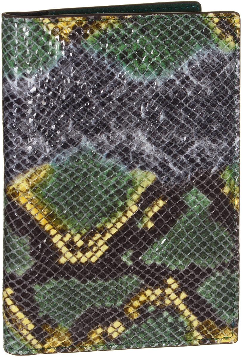 Обложка для документов женская Vitacci, цвет: зеленый. HS087HS087Стильная обложка для документов от Vitacci выполнена из натуральной лакированной кожи с тиснением под рептилию. Внутри расположено два боковых кармана, один из которых прозрачный и пять карманов для визиток. Также внутри находится съемный блок из шести прозрачных файлов из мягкого пластика, один из которых формата А5, а также четыре накладных кармана для визиток или кредитных карт. Изделие упаковано в фирменную коробку. Такая обложка для документов идеально подойдет для любого образа и сохранит ваши документы.