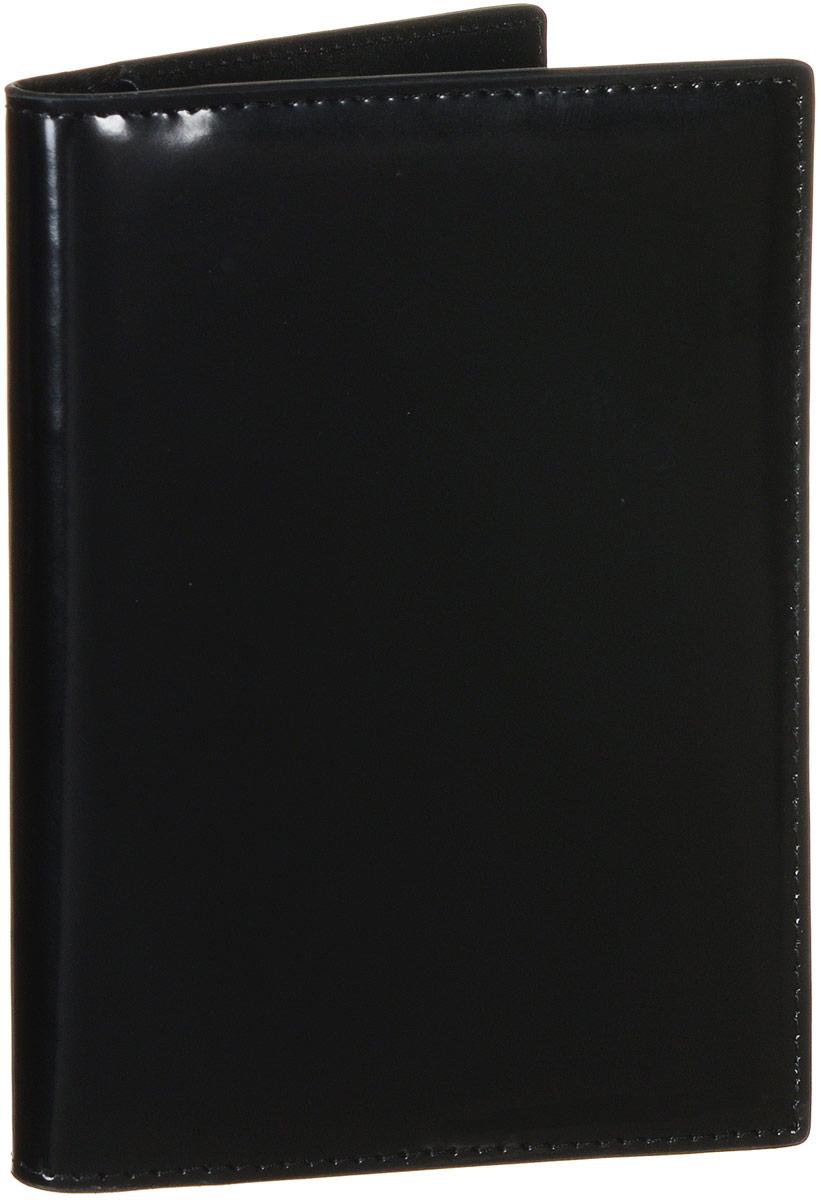 Обложка для документов Vitacci, цвет: черный. HS081HS081Стильная обложка для документов от Vitacci выполнена из натуральной гладкой кожи. Внутри расположено два боковых кармана, один из которых прозрачный и пять карманов для визиток. Также внутри находится съемный блок из шести прозрачных файлов из мягкого пластика, один из которых формата А5, а также четыре накладных кармана для визиток или кредитных карт. Изделие упаковано в фирменную коробку. Такая обложка для документов идеально подойдет для любого образа и сохранит ваши документы.