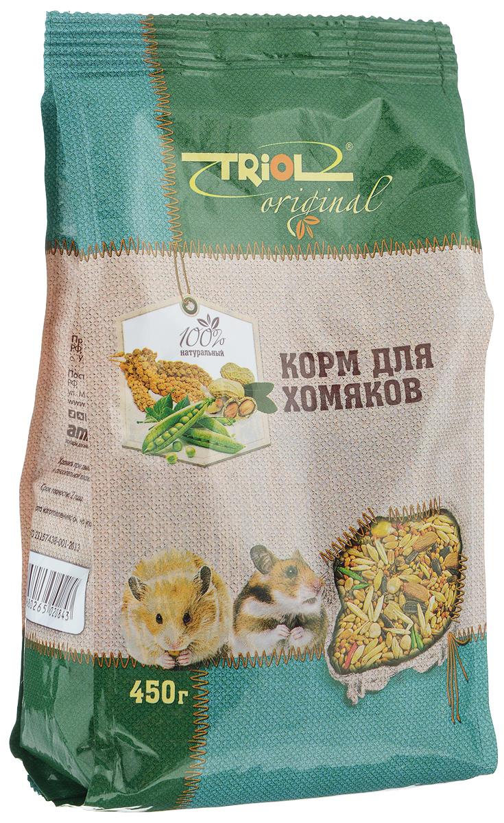 Корм для хомяков Triol, 450 гTF-00600Полнорационный корм Triol разработан специально для питания хомяков и содержит только натуральные компоненты. Сбалансированный состав корма удовлетворяет как пищевые потребности питомцев, так и восполняет необходимые для правильного роста и развития витамины и минералы.