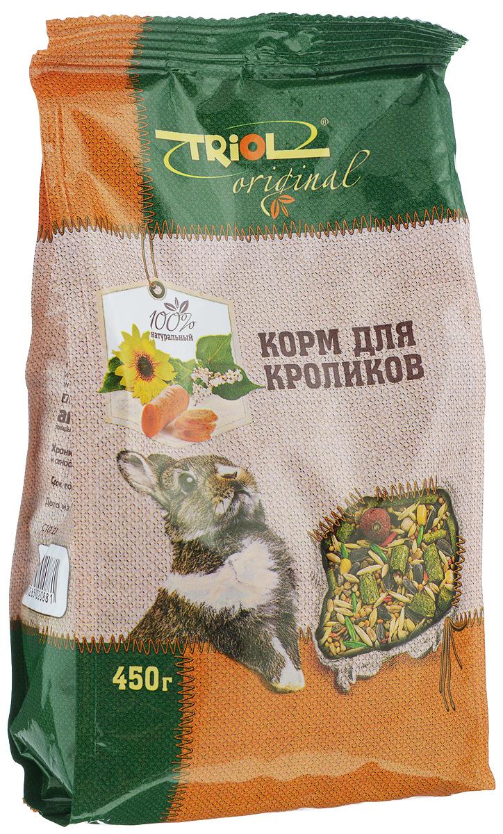 Корм для кроликов Triol, 450 гTF-01000Полнорационный корм Triol разработан специально для питания кроликов и содержит только натуральные компоненты. Содержащиеся в составе травяные гранулы, заменяют в диете кролика свежую траву, являющуюся основным источником витаминов. Товар сертифицирован.