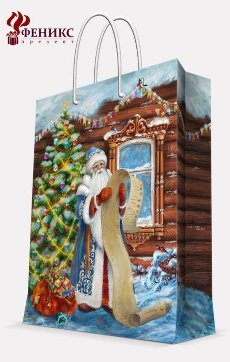Пакет подарочный Magic Time Дед Мороз со списком, 26 х 32,4 х 12,7 см38560Подарочный пакет Magic Time Дед Мороз со списком, изготовленный из плотной бумаги, станет незаменимым дополнением к выбранному подарку. Пакет выполнен с глянцевой ламинацией, что придает ему прочность, а изображению - яркость и насыщенность цветов. Для удобной переноски на пакете имеются две ручки из шнурков. Подарок, преподнесенный в оригинальной упаковке, всегда будет самым эффектным и запоминающимся. Окружите близких людей вниманием и заботой, вручив презент в нарядном, праздничном оформлении. Плотность бумаги: 140 г/м2.