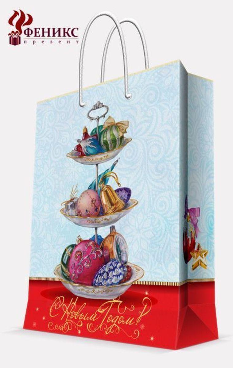 Пакет подарочный Magic Time Стеклянные сласти, цвет: голубой, 26 х 32,4 х 12,7 см38561Бумажный пакет СТЕКЛЯННЫЕ СЛАСТИ S арт.38561 (26*32.4*12.7см, для сувенирной проду/12кции, с ламинацией, с шириной основания 26 см, плотность бумаги 140 г/м2)
