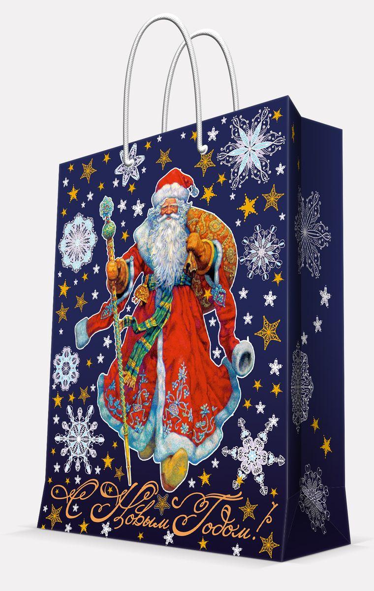 Пакет подарочный Magic Time Дед Мороз в красном кафтане, 17,8 х 22,9 х 9,8 см41983Подарочный пакет Magic Time Дед Мороз в красном кафтане, изготовленный из плотной бумаги, станет незаменимым дополнением к выбранному подарку. Пакет выполнен с глянцевой ламинацией, что придает ему прочность, а изображению - яркость и насыщенность цветов. Для удобной переноски на пакете имеются две ручки из шнурков. Подарок, преподнесенный в оригинальной упаковке, всегда будет самым эффектным и запоминающимся. Окружите близких людей вниманием и заботой, вручив презент в нарядном, праздничном оформлении. Плотность бумаги: 140 г/м2.