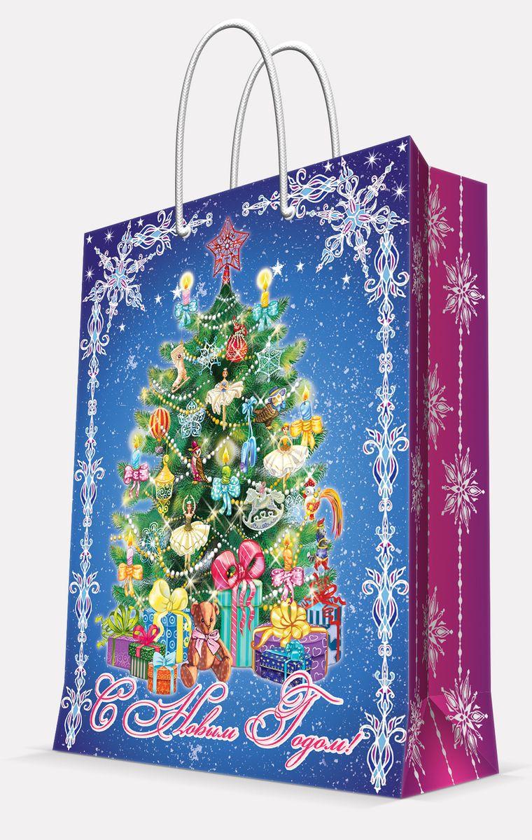 Пакет подарочный Magic Time Пушистая елочка, цвет: синий, 26 х 32,4 х 12,7 см42001Пакет бумажный ПУШИСТАЯ ЕЛОЧКА для сувенирной продукции, с ламинацией, с шириной основания 26 см, плотность бумаги 140 г/м2 / 26х32,4х12,7