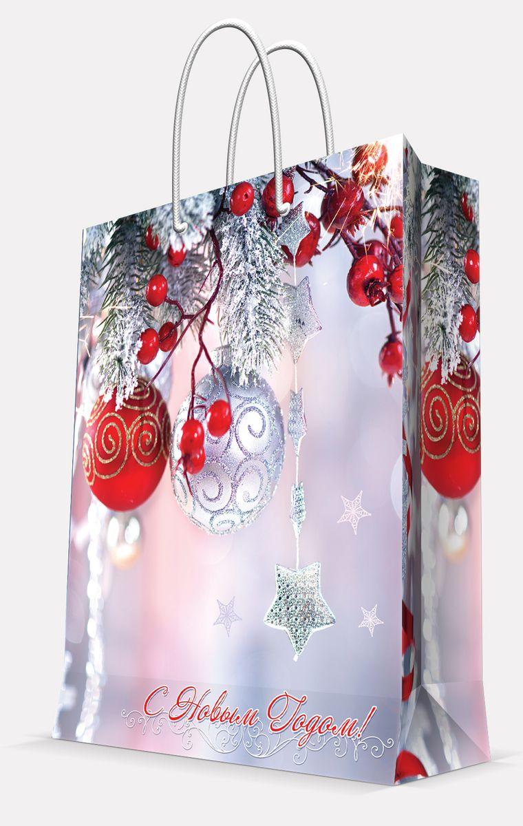 Пакет подарочный Magic Time Шарики и звездочка, 40,6 х 48,9 х 9,8 см42030Подарочный пакет Magic Time Шарики и звездочка, изготовленный из плотной бумаги, станет незаменимым дополнением к выбранному подарку. Пакет выполнен с глянцевой ламинацией, что придает ему прочность, а изображению - яркость и насыщенность цветов. Для удобной переноски на пакете имеются две ручки из шнурков. Подарок, преподнесенный в оригинальной упаковке, всегда будет самым эффектным и запоминающимся. Окружите близких людей вниманием и заботой, вручив презент в нарядном, праздничном оформлении. Плотность бумаги: 157 г/м2.