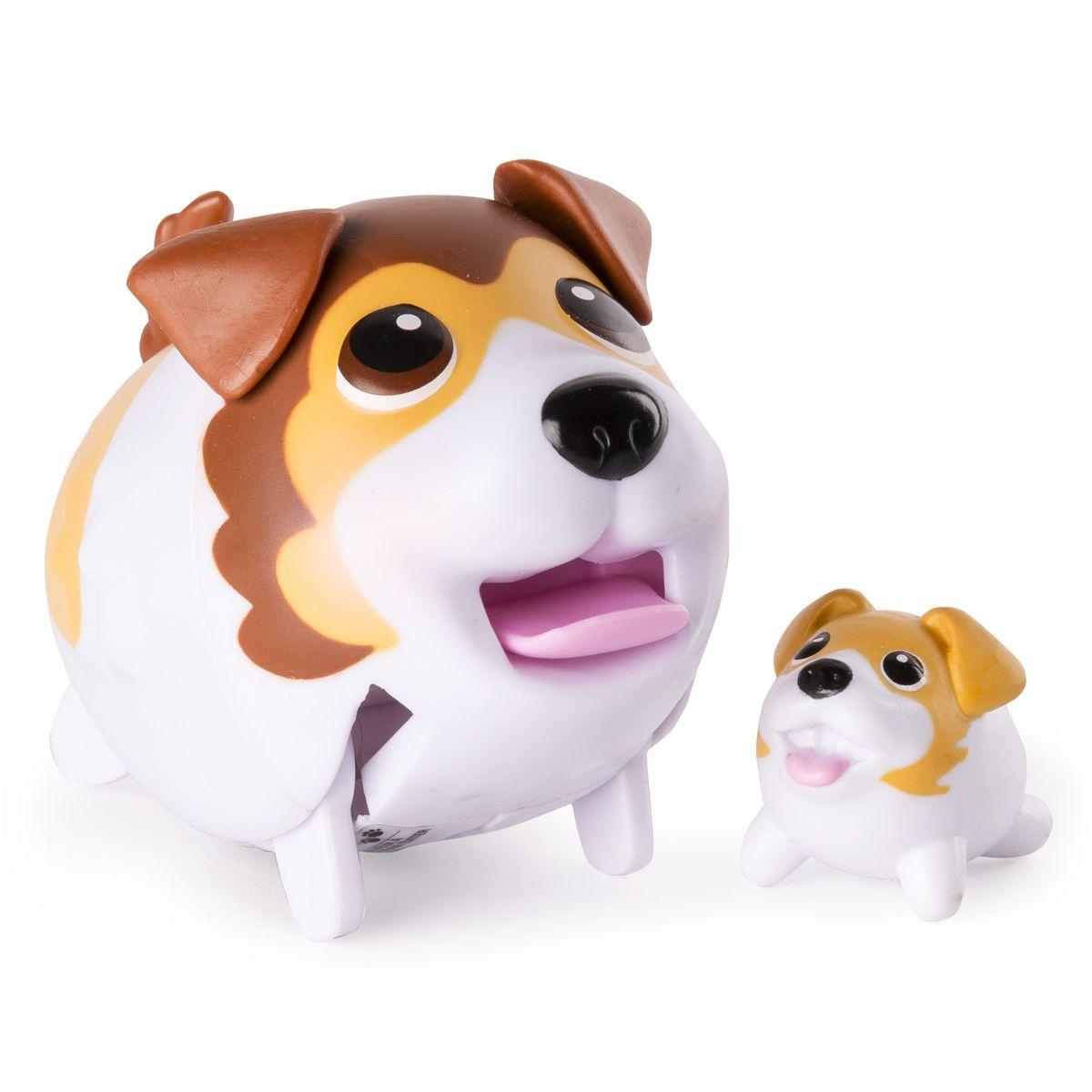 Chubby Puppies Набор фигурок Шелти56700_20075405Набор фигурок Chubby Puppies Шелти - это функциональная фигурка забавной собачки и её точная миниатюрная копия, которые наверняка понравятся вашему ребенку. Шелти умеет забавно передвигаться, шагая вразвалку, благодаря чему игра с ним становится еще более интересной и увлекательной. Фигурка не только ходит, но и смешно прыгает! Язык, хвостик и ушки у собачки подвижные. Набор предназначен для увлекательной сюжетно-ролевой игры и выглядит очень ярко и эффектно. Набор выполнен из качественного пластика и совершенно безопасен для здоровья вашего ребенка. Порадуйте вашего малыша таким замечательным подарком! Для работы требуется 1 батарейка напряжением 1,5 V типа ААА (входит в комплект).