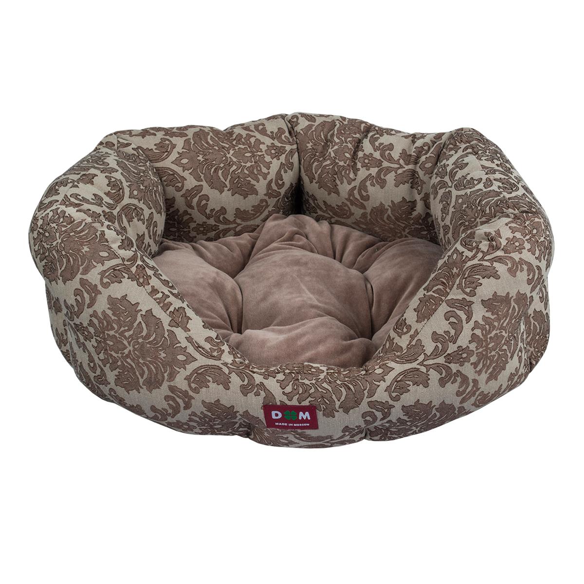 Лежак для животных Dogmoda Ампир, цвет: коричневый, серый, 53 х 49 х 23 смDM-160267Лежак для животных Dogmoda Ампир прекрасно подойдет для отдыха вашего домашнего питомца. Лежак предназначен для кошек, а так же собак мелких пород. Изделие выполнено из прочной ткани. Снабжено высокими широкими бортиками и съемной мягкой подушкой. Комфортный и уютный лежак обязательно понравится вашему питомцу, животное сможет там отдохнуть и выспаться. Размер лежака: 53 х 49 х 23 см. Состав: жаккард, велюр. Наполнитель: холлофайбер.