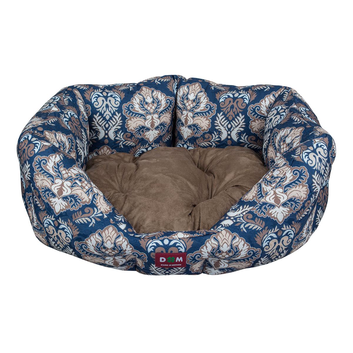 Лежак для животных Dogmoda Барон, цвет: синий, коричневый, 52 х 48 х 20 смDM-160274Лежак Dogmoda Барон прекрасно подойдет для отдыха вашего домашнего питомца. Предназначен для кошек, а так же собак мелких пород. Изделие выполнено из прочной ткани. Снабжено высокими широкими бортиками и съемной мягкой подушкой. Комфортный и уютный лежак обязательно понравится вашему питомцу, животное сможет там отдохнуть и выспаться. Размер лежака: 52 х 48 х 20 см. Состав: жаккард, искусственная замша. Наполнитель: поролон, холлофайбер.