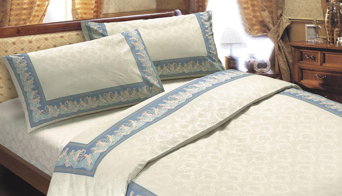 Комплект белья Seta Ангелы, 2-спальный, наволочки 70x70, цвет: голубой01713204