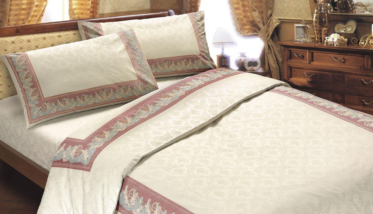 Комплект белья Seta Ангелы, 2-спальный, наволочки 50x70, цвет: бордовый01713306