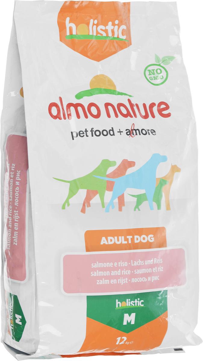 Корм сухой Almo Nature для взрослых собак, с лососем, 12 кг10150Корм сухой Almo Nature представляет собой полноценное питание для взрослых собак. Высокое содержание свежих продуктов делает этот продукт более привлекательными для собак и повышает усвояемость. Товар сертифицирован.