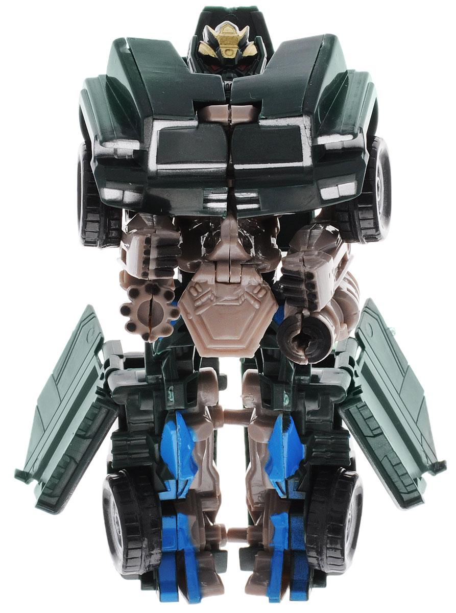 Тилибом Робот-трансформер цвет темно-зеленый светло-бежевый голубойТ80485_темно-зеленый, голубойРобот-трансформер бренда Тилибом из серии Стражи галактики понравится любому маленькому поклоннику роботов и автомобилей! Игрушка выполнена из высококачественного пластика, в комплект входит оружие. Игрушка имеет две вариации: из грозного робота она легко превращается в мощный внедорожник. Руки, ноги и голова игрушки подвижны, что позволяет придавать ей различные позы. Подобные занятия очень полезны для детей, они способствуют развитию памяти, смекалки, развивают воображение, внимательность, мышление и координацию движений. Ребенок с удовольствием будет играть с роботом-трансформером, придумывая разные истории. Порадуйте его таким замечательным подарком!