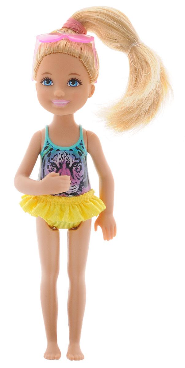 Barbie Мини-кукла Челси цвет одежды бирюзовый сиреневый желтыйDGX40_DGX32Мини-кукла Barbie Челси порадует любую девочку, ведь она такая приветливая и веселая, что может поднять настроение одним своим присутствием. У куклы длинные светлые волосы, что позволит ребенку всласть насладиться разными прическами. Челси одета в стильный купальник, образ дополняют солнечные очки на голове. Игрушка изготовлена из качественных и безопасных материалов. Благодаря играм с куклой, ваша малышка сможет развить фантазию и любознательность, овладеть навыками общения и научиться ответственности. Порадуйте свою принцессу таким прекрасным подарком!