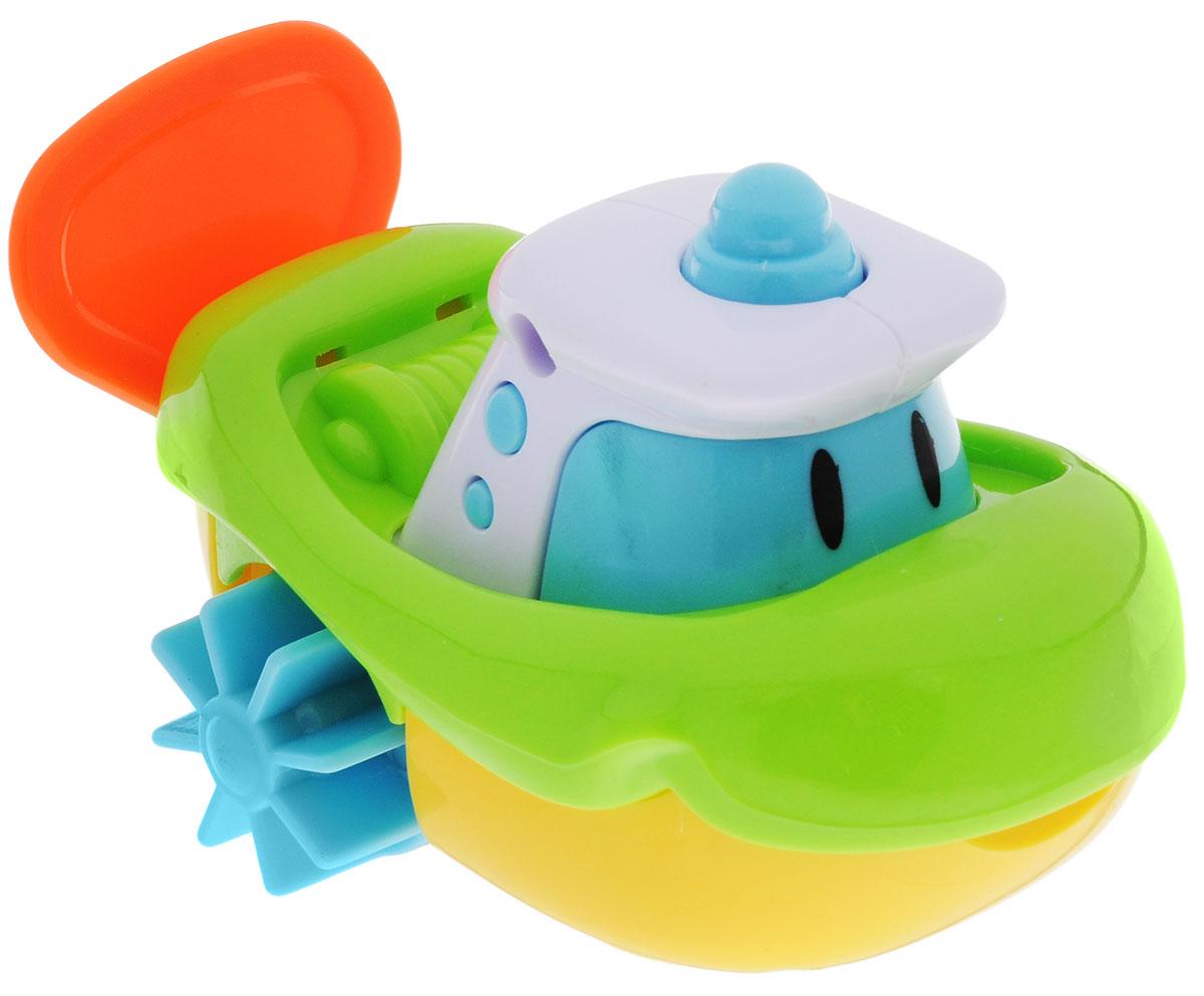Navystar Игрушка для ванной Кораблик цвет голубой салатовый желтый66899-1-BИгрушка для ванной Navystar Кораблик обрадует вашего малыша во время купания и сделает этот нелегкий процесс приятным и веселым. Игрушка выполнена в виде яркого кораблика с лопастями-колесиками и передним колесом. Если потянуть за веревочку, лопасти кораблика начнут вращаться, и он поплывет, а если играть с ним на ровной поверхности, то поедет. Игрушка для ванной Navystar Кораблик не только развеселит вашего малыша, но и поможет развить мелкую моторику.