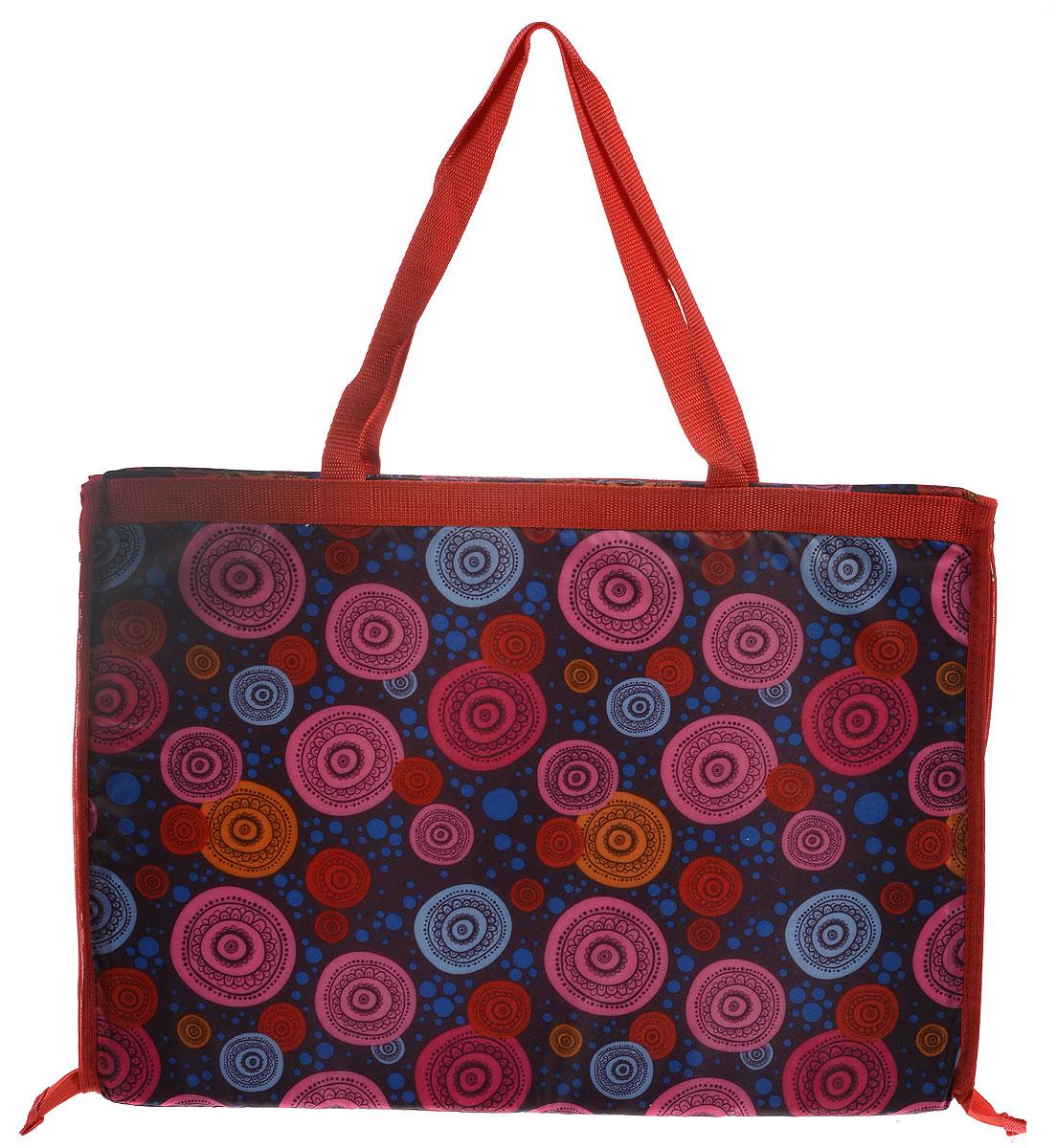 Сумка-коврик для пляжа Eva, 38 х 52 смК37_розовый, красный, синийСумка-коврик Ева изготовлена из полиэтилена и пенополиэтилена. Вместимая сумка на молнии одним движение превращается в удобный пляжный коврик для загорания. Для отдыха на пляже или пикника будет полезной такая вещь, как сумка-коврик для пляжа. Изделие сделает ваш отдых комфортным и приятным. Размер сумки-коврика (в сложенном виде): 38 х 52 см. Размер сумки-коврика (в развернутом виде): 145 х 52 см.