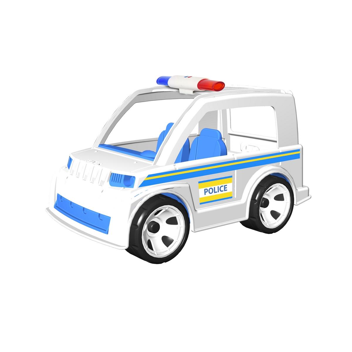 MultiGo Полицейская машина с полицейским23211Полицейская машина MultiGo внесет разнообразие в игры с машинками, позволяя придумывать новые сюжеты. Колеса машинки свободно вращаются, двери открываются. Посадите полицейского в машину и прокатите его по комнате, тротуару или… песку! Кабина имеет два посадочных места для двух фигурок. Фигурка может наклоняться, руки фигурки поднимаются и опускаются, голова поворачивается. Волосы и головной убор съемные, их можно менять с другими фигурками. Специальная система MultiGo позволяет детям легко менять и добавлять различные игровые аксессуары. Одна игрушка легко преобразуется в другую. Сделайте вашему ребенку такой замечательный подарок!