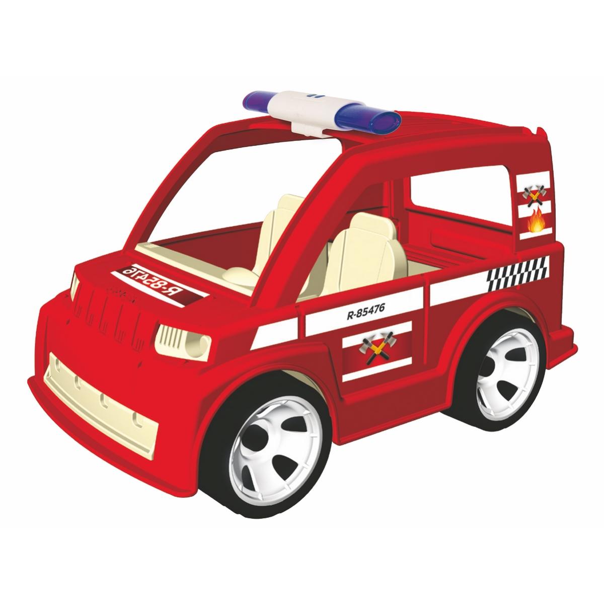 Igracek Пожарная машина с пожарным23218ПОЖАР!!!! Идеальная машина для быстрого реагирования! Задняя дверь открывается. Размер машины: 19 x 11 x 11 cm. Фигурка полицейского включена в набор. Высокое качество сборки и материалов.