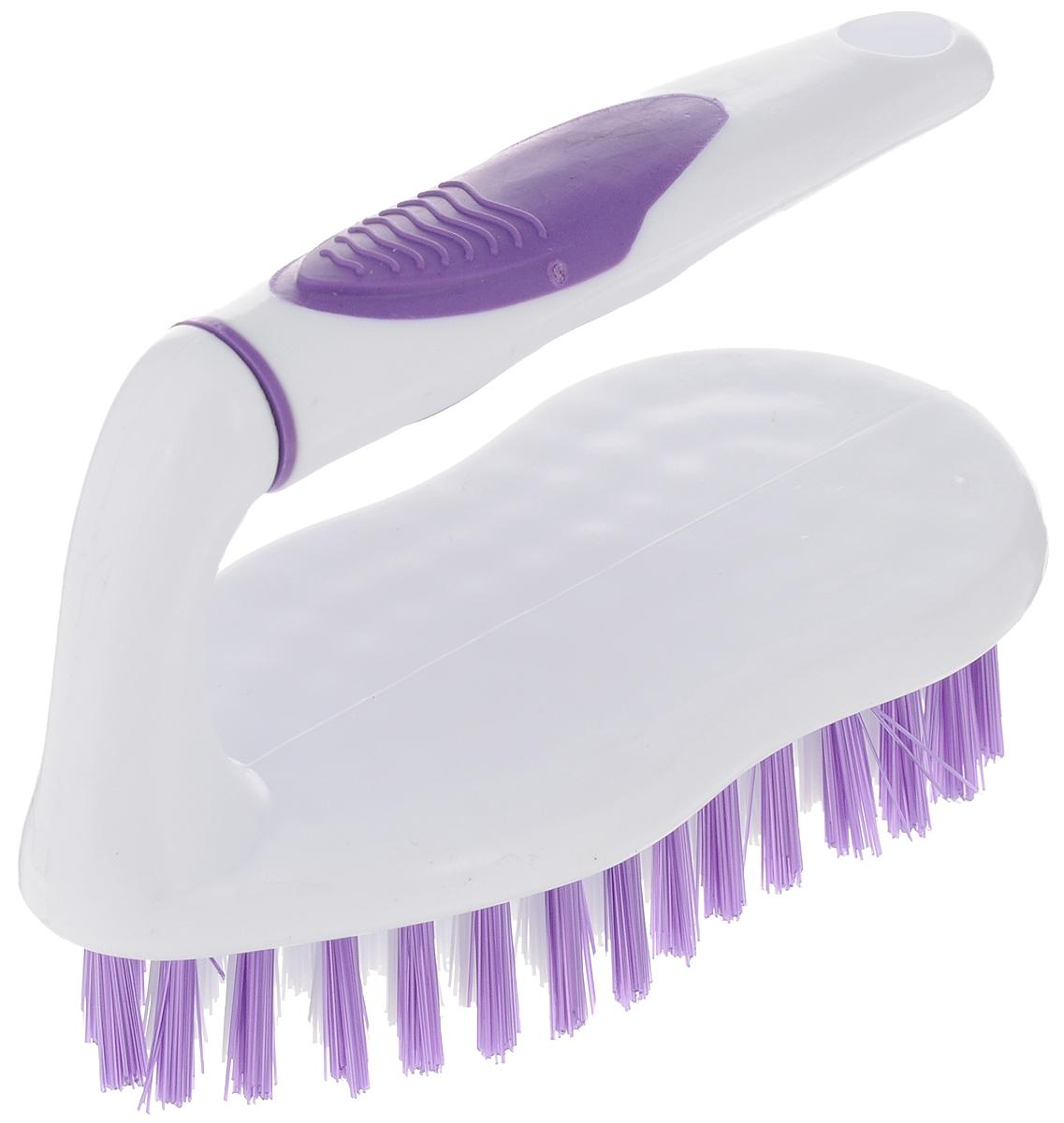 Еврощетка Home Queen Утюг, универсальная, цвет: белый, фиолетовый52076Еврощетка Home Queen Утюг, выполненная из полипропилена и нейлона, является универсальной щеткой для любых поверхностей, эффективно очищающей загрязнения. Оснащена удобной ручкой. Размер: 15 х 7 х 11,5 см. Длина ворсинок: 2,5 см.