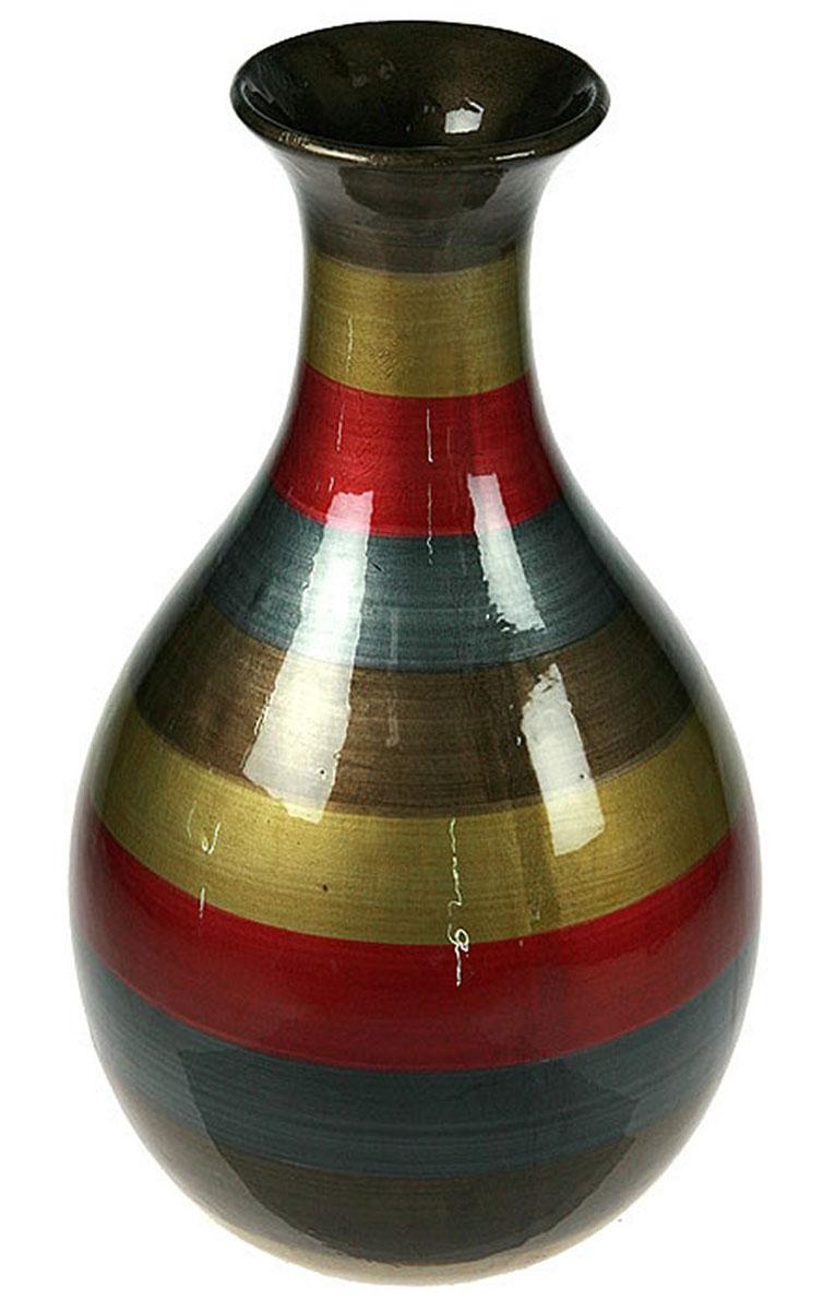 Ваза Русские Подарки, высота 34 см. 115912115912Ваза Русские Подарки, выполненная из керамики, украсит интерьер вашего дома или офиса. Оригинальный дизайн и красочное исполнение создадут праздничное настроение. Такая ваза подойдет и для цветов, и для декора интерьера. Кроме того - это отличный вариант подарка для ваших близких и друзей. Правила ухода: мыть теплой водой с применением нейтральных моющих средств. Размер вазы: 20 х 20 х 34 см.