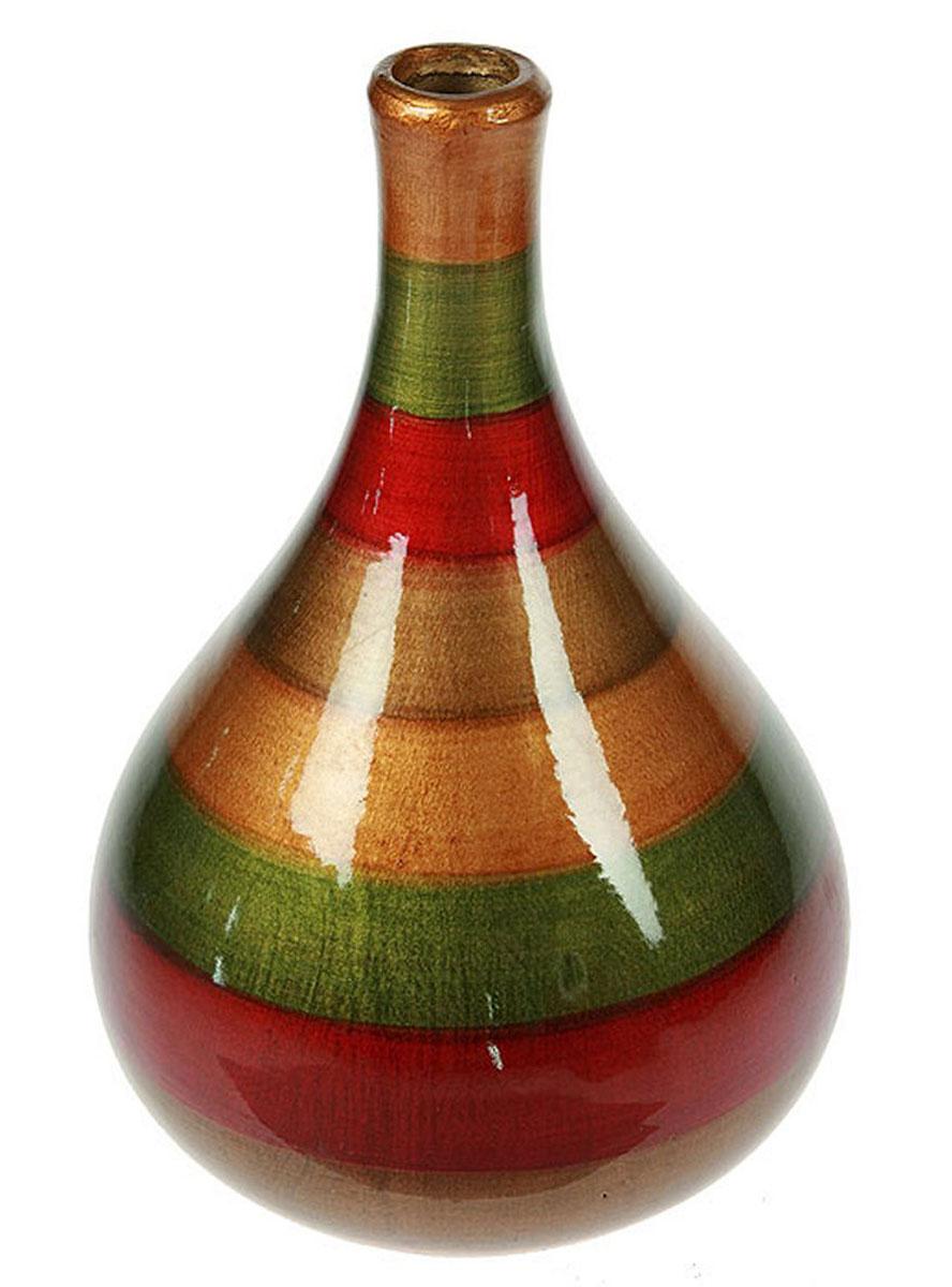 Ваза Русские Подарки, высота 27 см. 115920115920Ваза Русские Подарки, выполненная из керамики, украсит интерьер вашего дома или офиса. Оригинальный дизайн и красочное исполнение создадут праздничное настроение. Такая ваза подойдет и для цветов, и для декора интерьера. Кроме того - это отличный вариант подарка для ваших близких и друзей. Правила ухода: мыть теплой водой с применением нейтральных моющих средств. Размер вазы: 18 х 18 х 27 см.