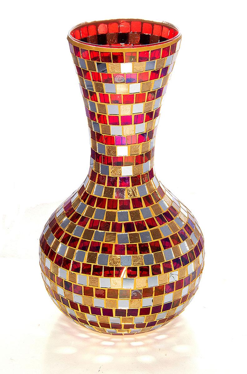 Ваза Русские Подарки Мозаика, высота 35 см. 8671586715Ваза Русские Подарки, выполненная из стекла, украсит интерьер вашего дома или офиса. Оригинальный дизайн и красочное исполнение создадут праздничное настроение. Такая ваза подойдет и для цветов, и для декора интерьера. Кроме того - это отличный вариант подарка для ваших близких и друзей. Правила ухода: мыть теплой водой с применением нейтральных моющих средств. Размер вазы: 20 х 20 х 35 см.